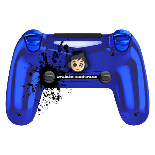 Chrome Blue PS4 Controller back