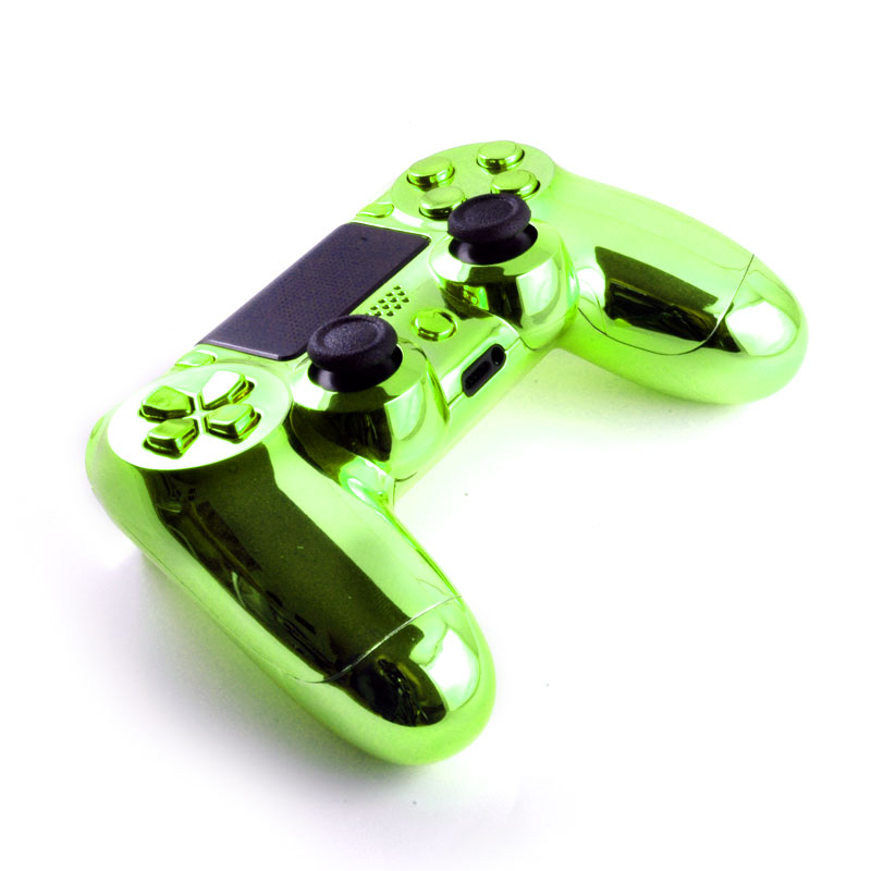 Chrome Green PS4 controller - TheControllerPeople