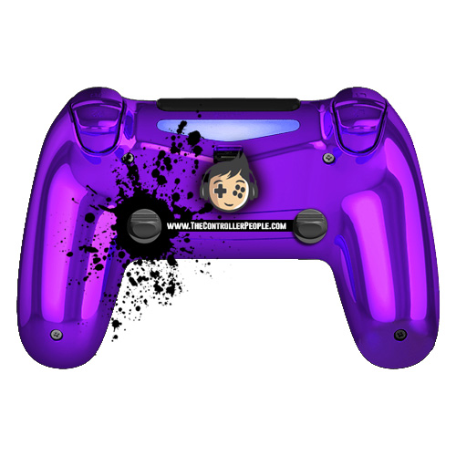 Chrome Purple PS4 Controller Back