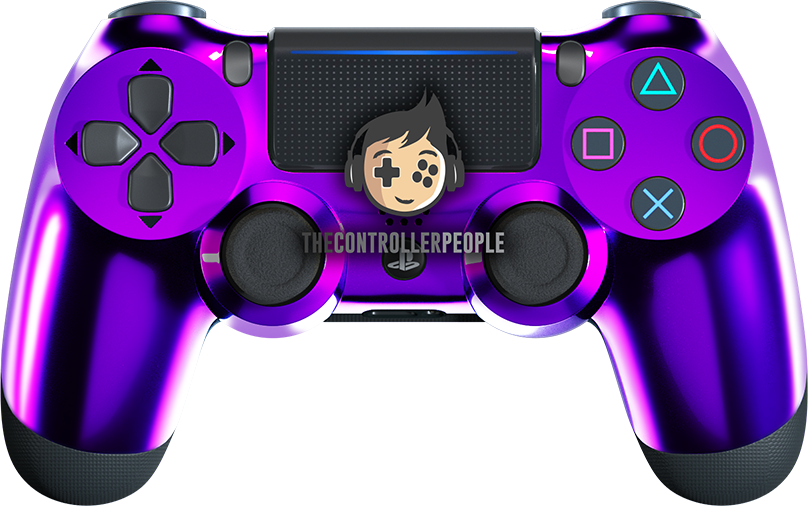 Chrome Purple PS4 Controller