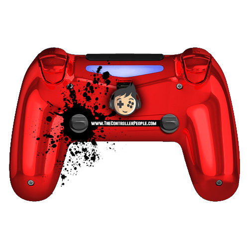 Chrome Red PS4 Controller back