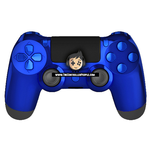 Chrome blue bacl ps4 controller