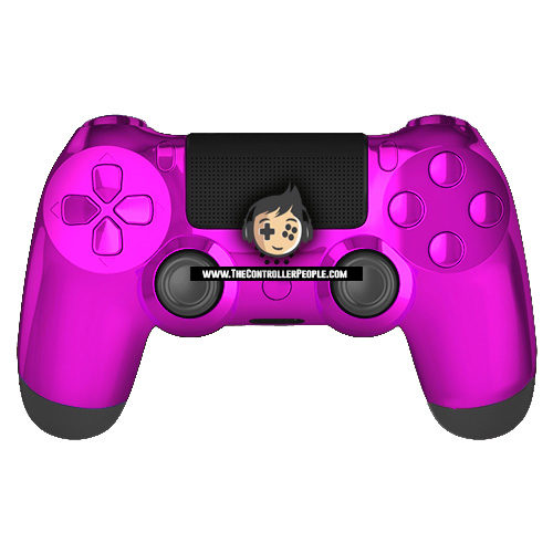 Chrome Purple Black Back PS4 Controller