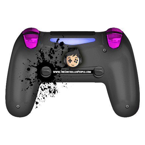 Chrome Purple PS4 Buttons