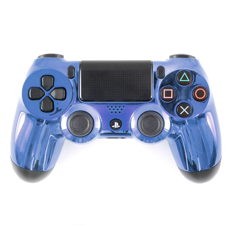 Chrome Blue black PS4 controller - TheControllerPeople