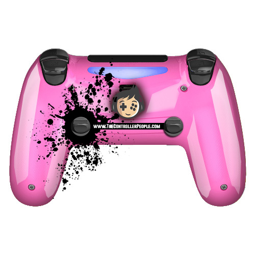 Pink PS4 controller back