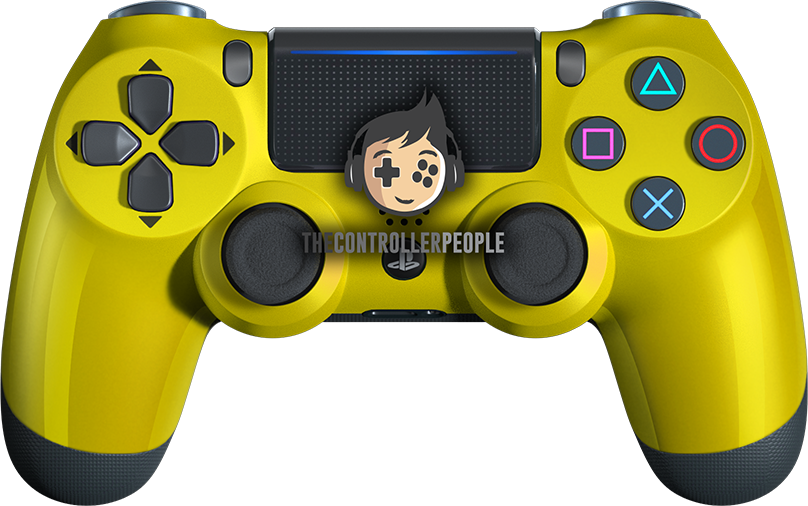 Yellow PS4 controller