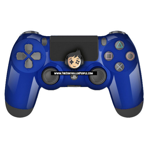 Blue PS4 Contoller with Black back