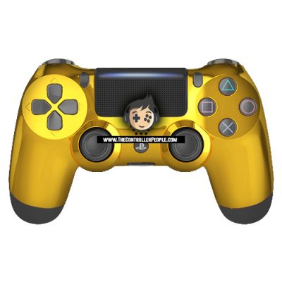 Gold Front PS4 Controller