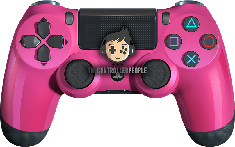 Pink PS4 Contoller with Black back