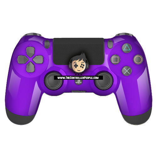 Purple PS4 Contoller with Black back