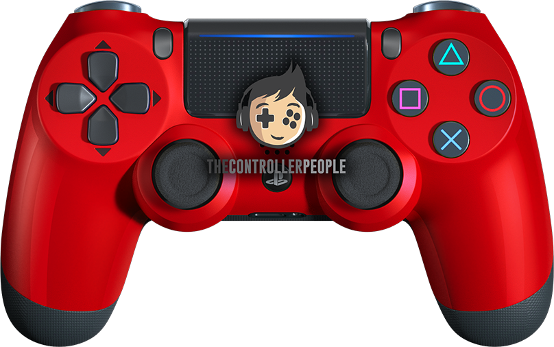 Polished Red PS4 Controller