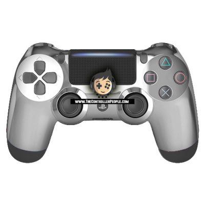 Silver Front PS4 Controller