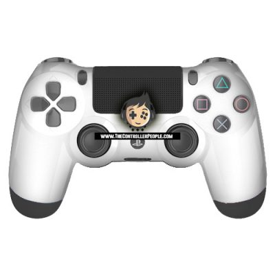 White PS4 Contoller with Black back