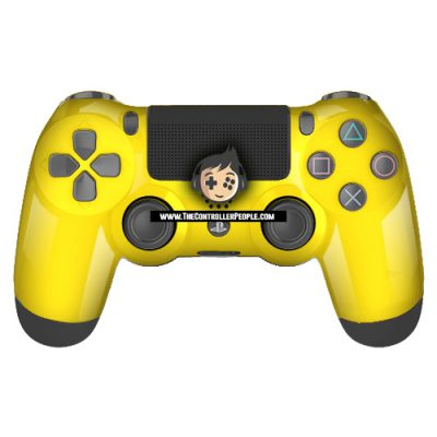 Yellow PS4 Contoller with Black back