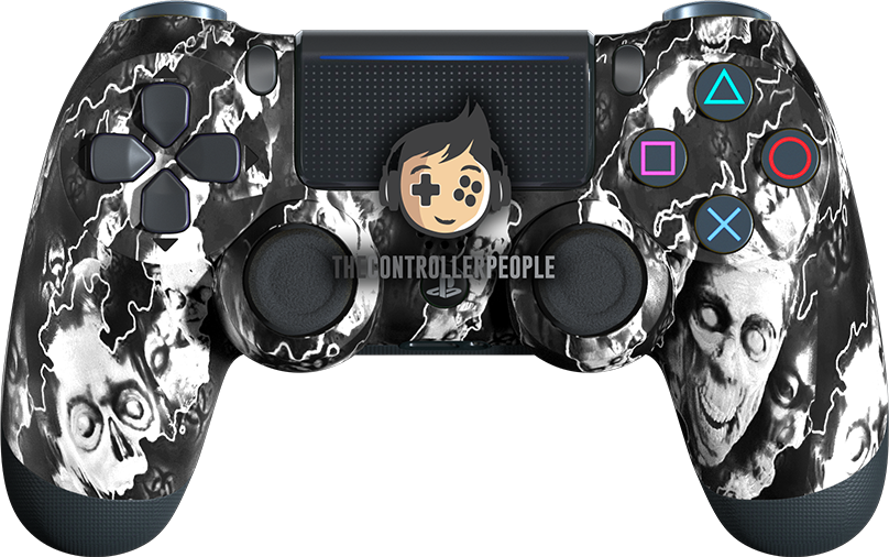 White Zombie PS4 Controller
