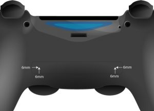 PS4 controller hole positioning
