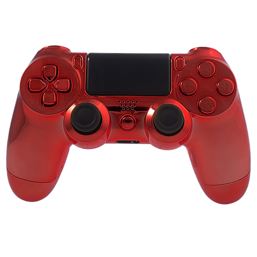 red Chrome PS4 controller
