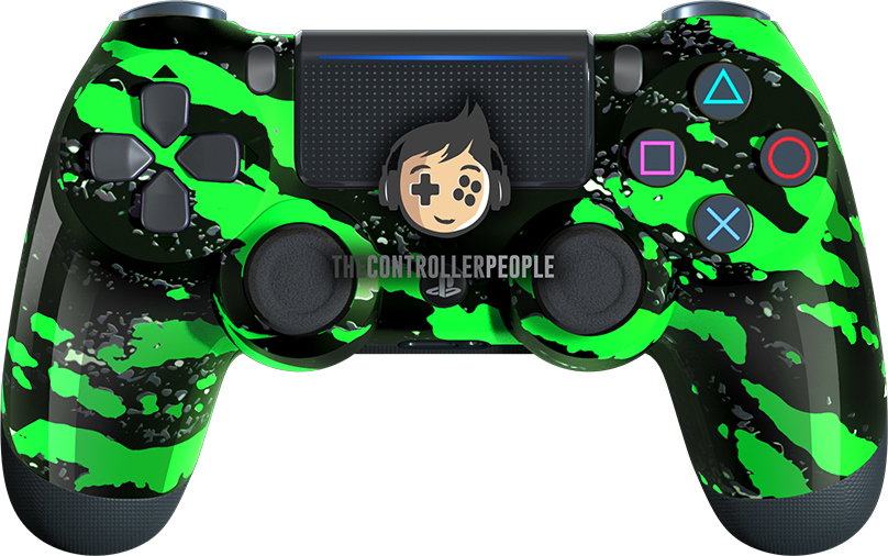 Green Splatter PS4 Controller