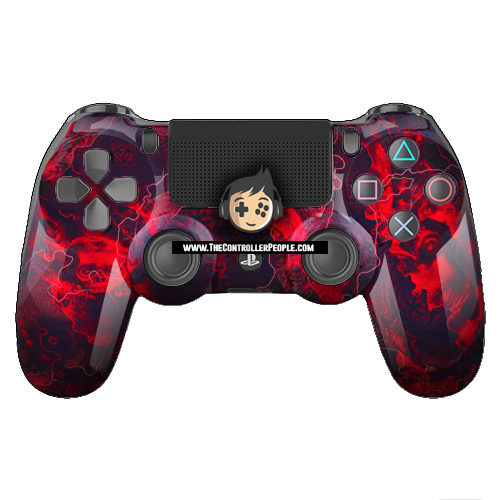 Red Zombie PS4 Controller