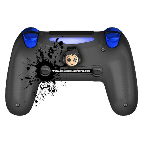 ps4 controller back chrome blue triggers