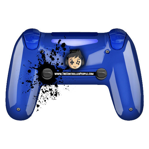 polsihed blue ps4 controller back