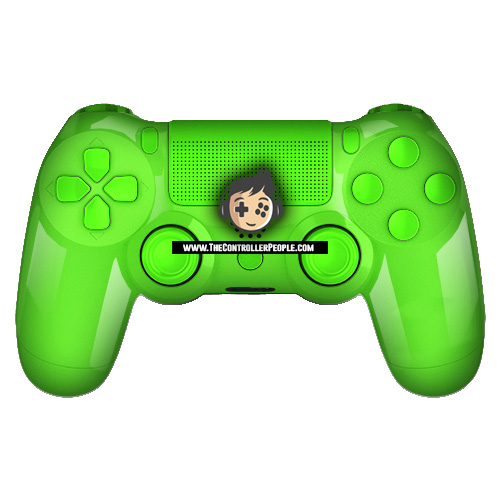 Polished green ps4 controller