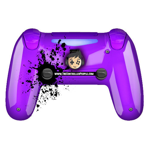 polished purple ps4 controller back