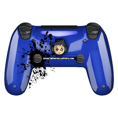 Blue PS4 controller back