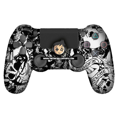 White Dishonor PS4 Controller