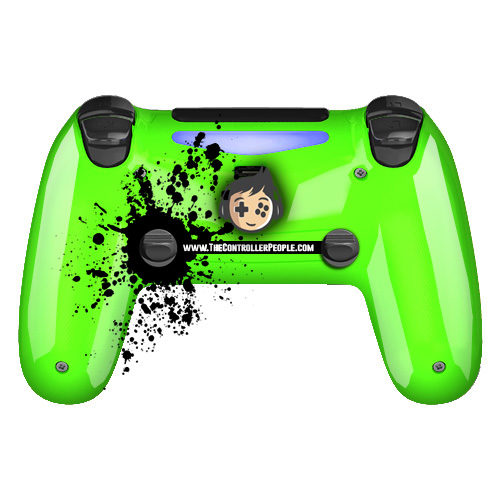 green ps4 controller back