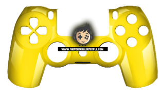 Polished Yellow PS4 Controller