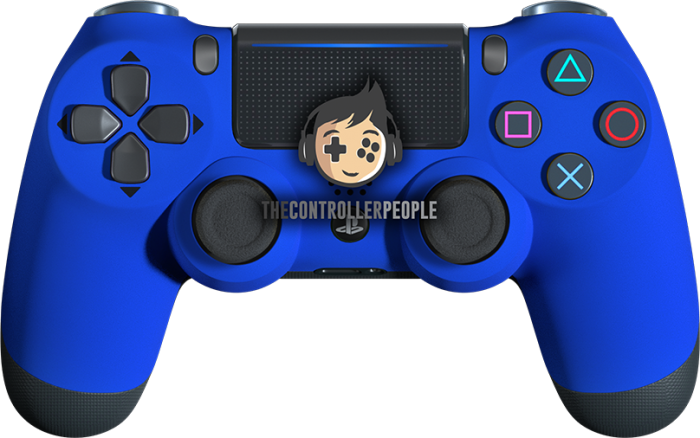 Super Soft Blue PS4 Controller