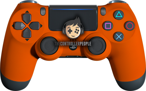 Super Soft Orange PS4 Controller