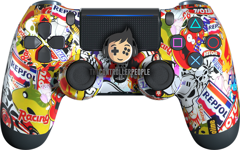 Sticker Bomb PS4 Controller