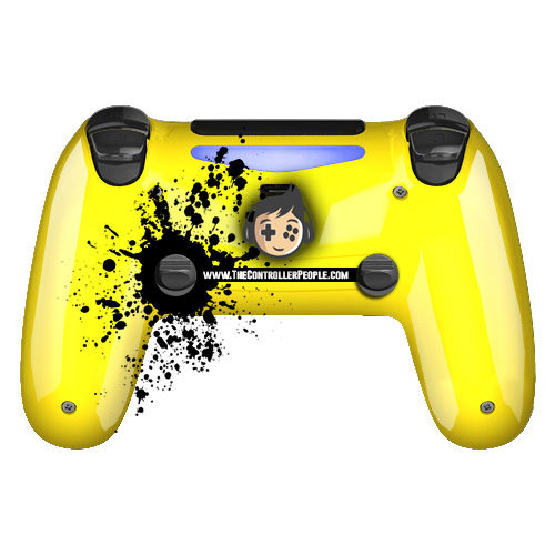 Yellow PS4 controller back