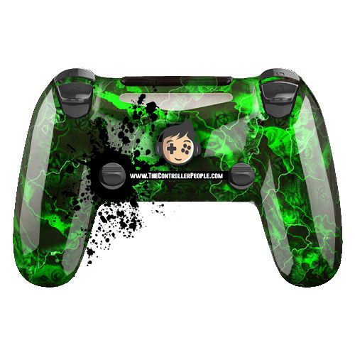 Green Zombie PS4 Controller Back