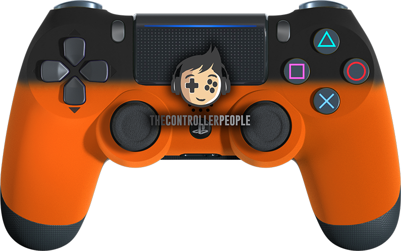 Orange Shadow PS4 Controller
