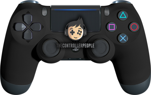 super-soft-matte black ps4 controller