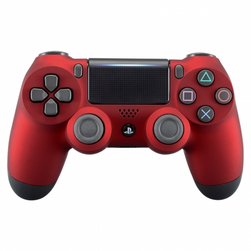 matte red PS4 controller