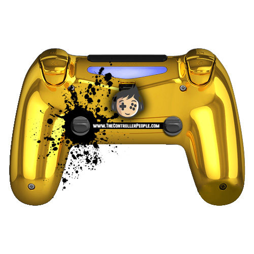 Gold Back PS4 Controller