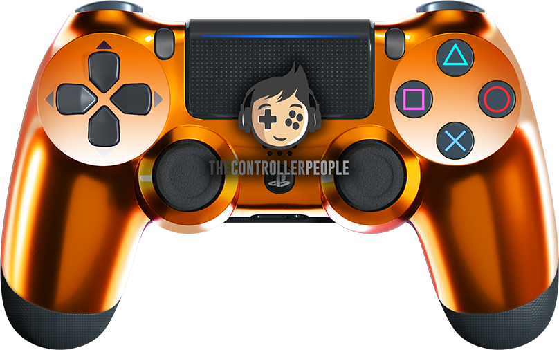 Chrome Orange PS4 Controller