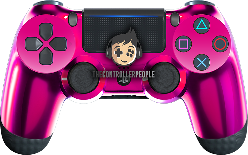 Chrome Pink PS4 Controller