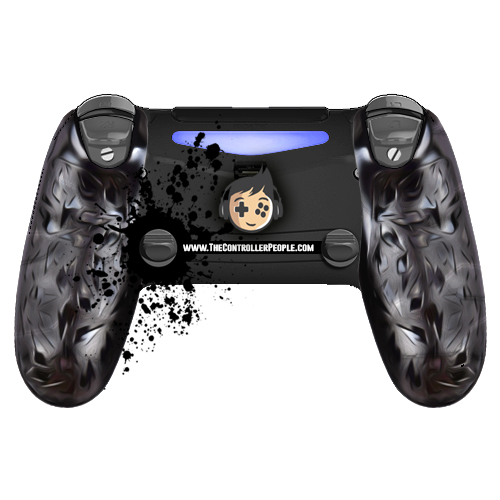 Ps4 controller back with SST and ClickSticks and GripClips