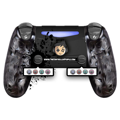 Ps4 controller back with SST and ClickSticks and GripClips and Remaps