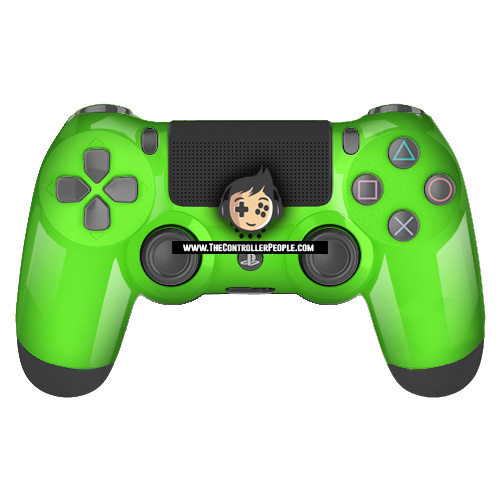 Green PS4 Contoller with Black back