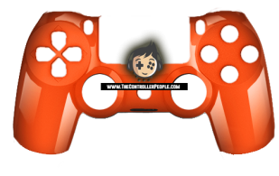 Polished Orange PS4 controller