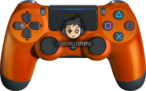 Orange PS4 Contoller with Black back