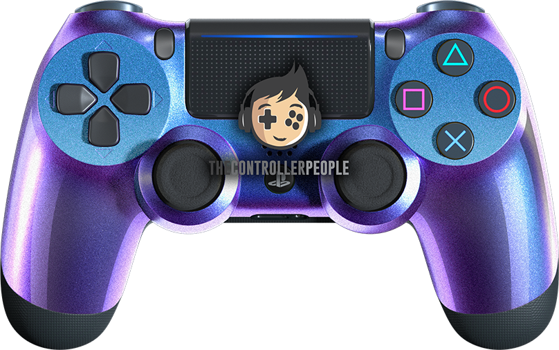 Chameleon Blue Purple PS4 Controller