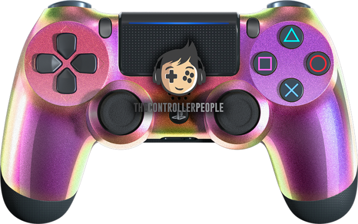 Chameleon Purple Green PS4 Controller